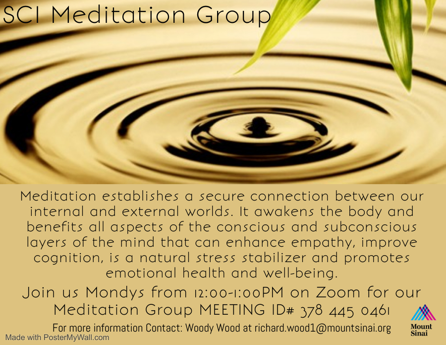 Meditaton Group @ ZOOM ID# 378 445 0461
